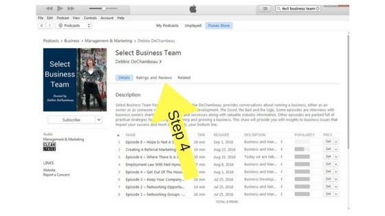 iTunes step 4 - Copy